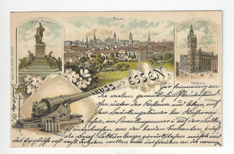 1899 Germany Picture Postcard - Greetings From Essen (#4)