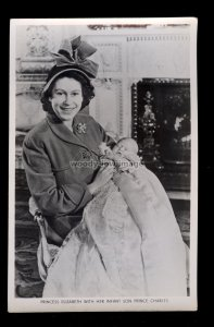 r4071 - Princess Elizabeth with her newborn son Charles - Tuck's postcard