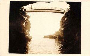 RPPC POINT LOMA Sunset Cliffs Bridge San Diego, CA c1930s Vintage Photo Postcard