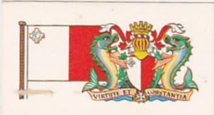 Vintage Trade Card Brooke Bond Tea Flags and Emblems Of The World No 19 Malta