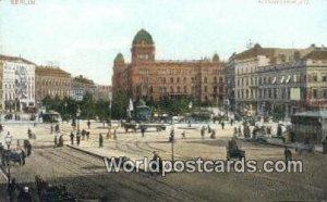 Alexander Platz Berlin Germany Unused