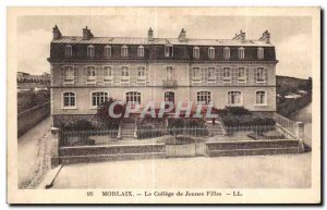Old Postcard Morlaix College Girls
