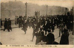 CPA AK 1920 Pont de la Concorde Defile du Cortege POLITICS (575281)