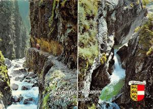Wildromantische Schlucht mit schoenen Wasserfaellen Hermagor im Gailtal