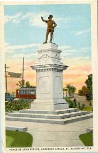 FL - St. Augustine. Ponce de Leon Statue