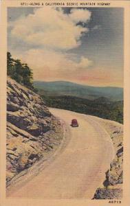 California Los Angeles Along A California Scenic Mountain Highway