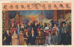 NEW YORK CITY 1930-40s ; Sammy's Bowery Follies