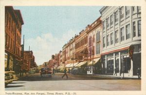 Three Rivers Quebec~Rue Des Forges~Hotel~Photographer~Sweet Caporal~1940s Cars