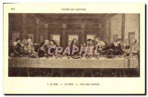 Old Postcard The Louvre Museum Da Vinci's Last Supper