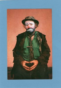 Emmett Kelly Weary Willie Clown Postcard Circus Mime Mournful Tramp Character