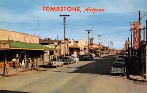 Tombstone Arizona~Allen Street~Rose Tree Inn Hotel~Schlitz Beer~1950s Cars~PC