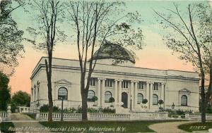 Watertown New York~Roswell P Flower Memorial Library~1911 Postcard