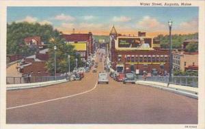 Maine Augusta Water Street