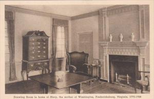 Virginia Fredericksburg Drawing Room In Home Of Mary Mother Of George Washing...