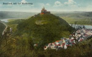 Braubach mit der Marksburg , Germany , 1900