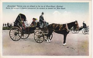 MONTREAL, Quebec, Canada, 1900-1910's; Horsedrawn Vehicles Only Are Allowed O...