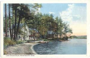 Lake Waushakum, Framingham, Massachusetts, MA White border
