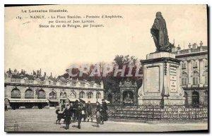 Old Postcard Nancy Place Stanislav Fountain of Amphitrite