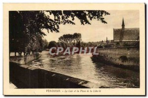 Vendome Old Postcard Le Loir and Place de la Liberte