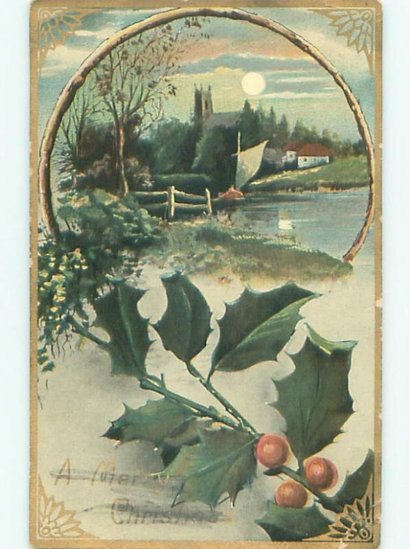 Divided-Back CHRISTMAS SCENE Great Postcard AA0385