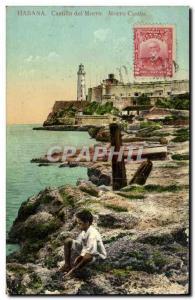 Postcard Old Havana Castillo del Morro Castle