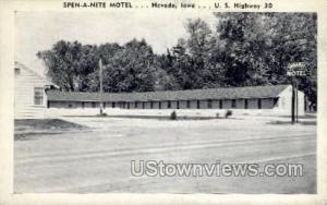 Spen A Nite Motel Nevada IA Writing On Back