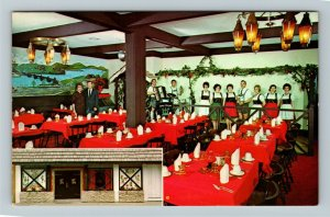 Huntington IN- Indiana, Heidelberg, German Restaurant, Chrome Postcard