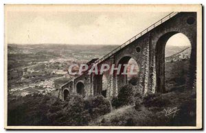 Old Postcard Lourdes Funicular the peak of Jer Viaduct