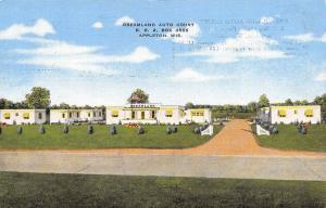 Appleton Wisconsin~Dreamland Auto Court Motel~Postcard 1940s Linen Roadside