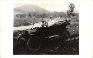 D88/ Interesting RPPC Real Photo Postcard Reprint Older Image Early Automobile