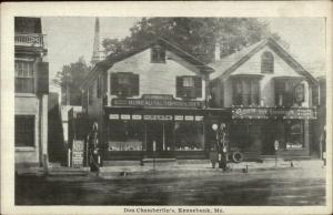 Kennebunk ME Don Chamberlin's Store Gas Station MOXIE Sign c1915 Postcard