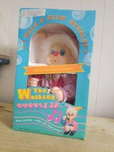 The Walking Bubbly Jr Clown Vintage Retro Complete.BOX IN ROUGH SHAPE.
