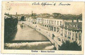 CARTOLINA d'Epoca - TREVISO Città: RIVIERA GARIBALDI 1923
