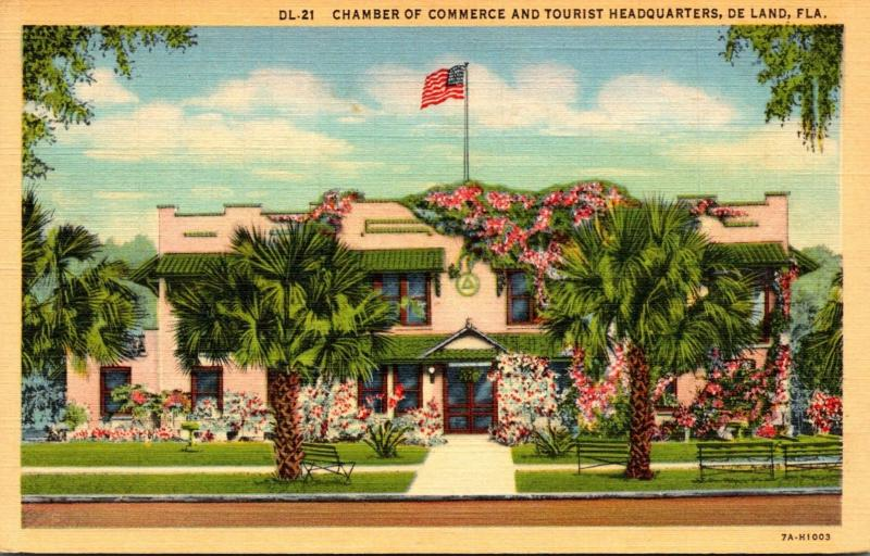 Florida Deland Chamber Of Commerce and Tourist Headquarters 1960 Curteich