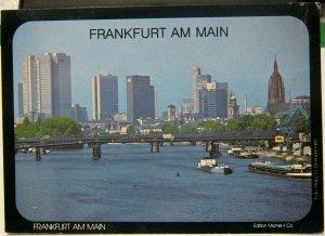 Germany Frankfurt am Main Skyline - posted 1986