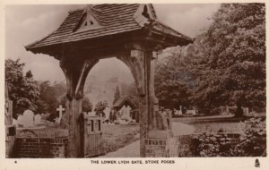 RP: STOKE POGES , The Lower. Lych Gate ; England ; TUCK 3760