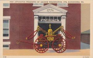 Fire Apparatus Presented By George Washington 1774 Alexandria Virginia