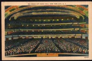New York City Radio City Music Hall World's Largest Theatre - pm1940 - LINEN