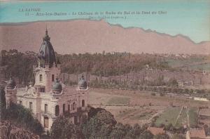 France Aix-les-Bains Le Chateau de la Roche du Roi et le Dent du Chat