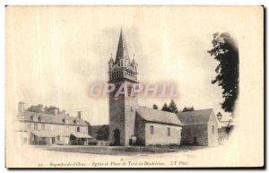 Old Postcard Bagnoles de L Orne Church and Place Tesse la Madeleine