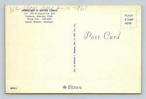 Voldosta GA- Georgia, Interstate 75 Motor Lodge, Vintage Chrome Postcard