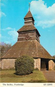Pembridge UK~The Belfry Church with Stone Walls & Wooden Tower 1950