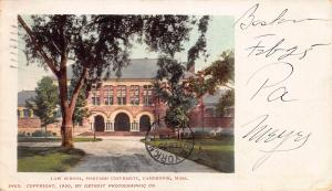 Harvard University, Law School, Cambridge, MA, early postcard, used in 1903