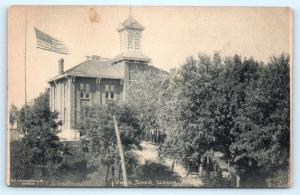 Postcard MI Vassar Union School Pre 1908 View A07