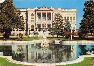 Turkey Istanbul Dolmabahce Palace Palais Fountain