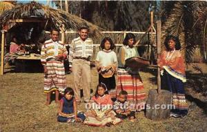 Published by Plastichrome Seminole Indians, Florida USA Postcard Descendants ...