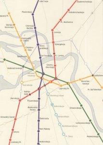 St Petersburg Russia Train Tube Subway Map Underground Postcard