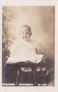 Young Baby Posing Jesse Eldon Peek Wellstone Oklahoma Real Photo
