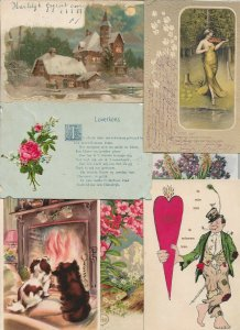 Art Nouveau And Fantasy And Holidays Postcard Lot of 17    01.18