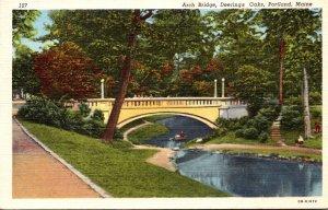 Maine Portland Deering Oaks The Arch Bridge Curteich